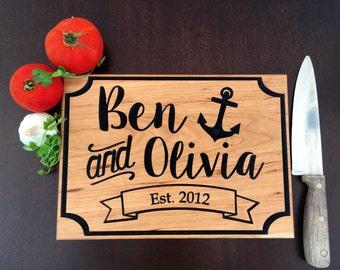Personalized Cutting Board - Cutting Board - Bride Gift - Home decor- Kitchen decor - Custom Gift - Wedding Gift - Keepsake