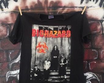 Vintage 90s Biohazard Tour Concert T Shirt