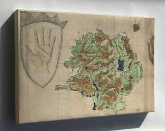 Canvas 24x36; Map Of Ulster County, Ireland 1880