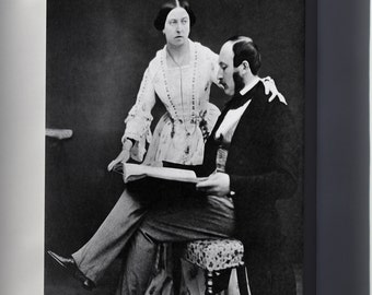 Canvas 24x36; Queen Victoria And Prince Albert, 1854