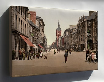 Canvas 24x36; High Street, Hawick, Scotland, 1890S