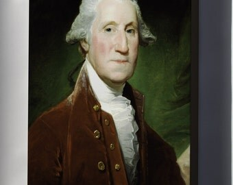 Canvas 24x36; George Washington, 1795-1796 By Gilbert Stuart
