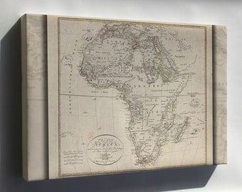 Canvas 24x36; Charte Von Africa Map 1804