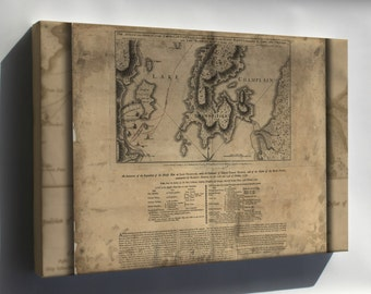 Canvas 16x24; Map Of Benedict Arnold On Lake Champlain 1776 P2