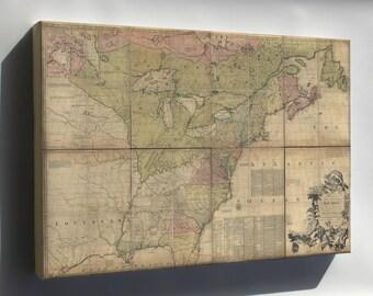 Canvas 16x24; Map Of North America Pre United States 1774