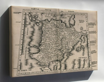 Canvas 16x24; Ptolemy Map Of Spain 2Nd Century
