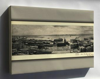 Canvas 16x24; View Of Harbor San Juan Puerto Rico 1927
