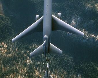 16x24 Poster; Kc-10 Extender (Top) Refuels An F-22 Raptor