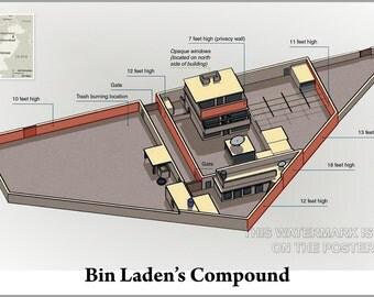 16x24 Poster; Osama Bin Laden Compound Hideout Compound