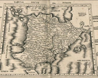 16x24 Poster; Ptolemy Map Of Spain 1513