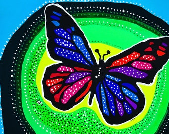 Butterfly Gouache Painting, Butterfly Painting, Butterfly Wall Art, Butterfly, Colorful Butterfly Painting