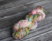 Hand Dyed Yarn, OOAK Hand Dyed Sock Yarn, Superwash - Color Overdose