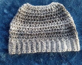 READY TO SHIP** -Messy Bun Hat Crocheted Ponytail Hat Women's