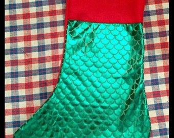 Handmade The Little Mermaid Christmas Stocking!