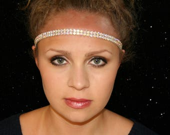 Rhinestone Headband - Twinkling - Elastic Headband - Fashion Headband - Woman Headband - Headbands For Women