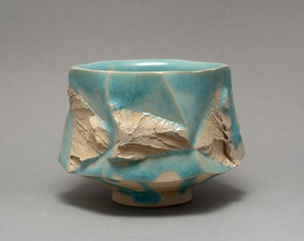 "One of a kind wood fired Yunomi ""Discovery"", Tea Bowl by Mikhail Tovstous"