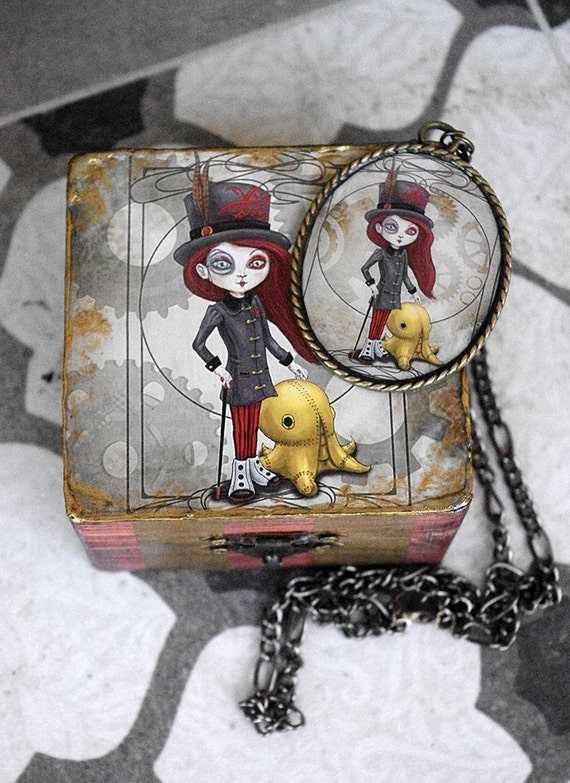 Set camafeo Mascota Steampunk