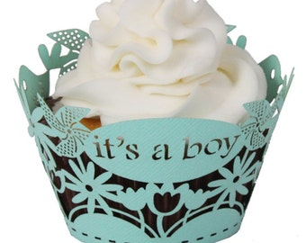It's a boy! Cupcake Wrappers