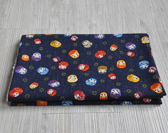Japan lucky god  Fabric 1/2 yard