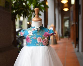 girl cheongsam style tutu dress
