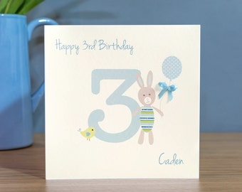 Personalised Boys Birthday Card - 1st, 2nd, 3rd, 4th, 5th