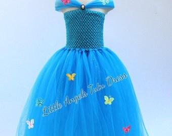 Cinderella Dress, Cinderella Tulle Tutu Dress, Fancy Dress Costume, Birthday Party Dress, Cinderella Ball Gown, Christmas
