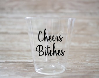 Cheers Bitches Decal Etsy - Vinyl decals for shot glasses