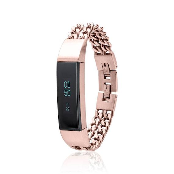 Bracelet NOE - Chain Bracelet made for Fitbit Alta - Alta HR - Rose Gold -  stainless steel