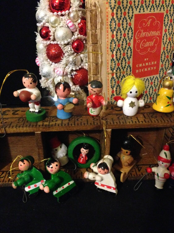 Miniature xmas tree ornaments -  17 00
