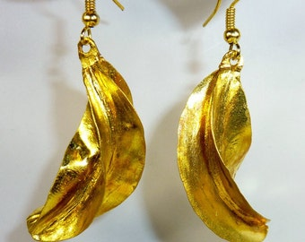 Goldplated African Fulani-Earrings, Peul Earrings, Traditional Light African Hoop Earrings, Gift for Her