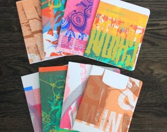 Nashville Letterpress Poster Testsheet Journals with Pocket Gift Idea