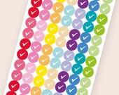 112 tiny matte dot stickers, check round stickers, circle stickers, life planner stickers, scrapbook sticker, reminder checklist sticker