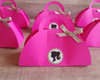 Barbie Inspired Purse Favor Boxes (6 included in price)