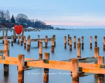 Severn River Sunrise - Annapolis - Maryland - Jonas Green Park - Fine Art Print - Landscape