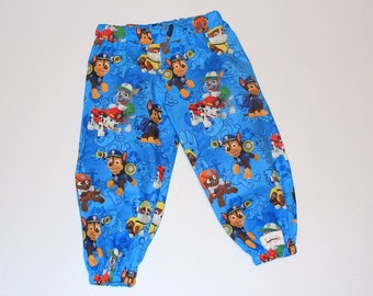 Harem Pants Paw Patrol Size 2, rubble, chase, sky, zoomer, rocky, dogs, puppies, boys clothing, boys pants, boys trousers, gifts under 30