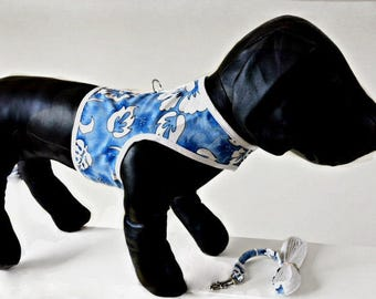 Hawaiian Dog Harness  with matching leash- Free shipping when purchased with another item