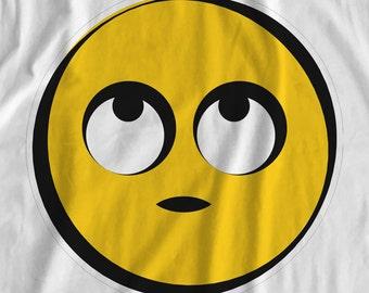 Emoji - Rolling Eyes - Iron On Transfer