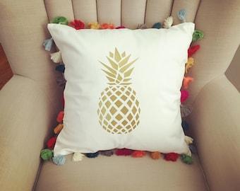 Pineapple Tassel Pillow Cover