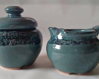 Custom Handmade sugar & creamer set, Pottery sugar/creamer set, Ceramic sugar/creamer set