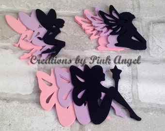 Set of 12 Large or Small Fairy Die Cuts, Fairy Cutouts, Fairy Dies, Paper Fairies for DIY Projects, Fairies Silhouettes