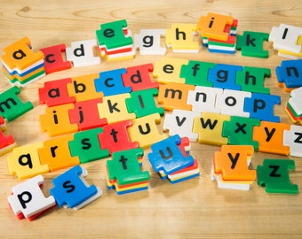 Snap Together Alphabet Magnets - At least 70 Pieces #2