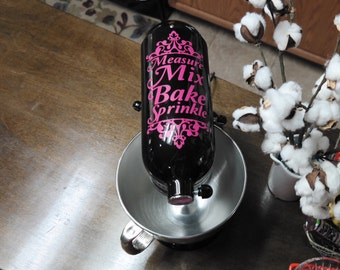 Customized bakers mix sprinkle measure kitchen aid Mixer decal