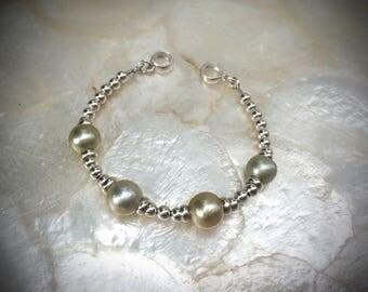 south sea pearl bracelet 925 sterling silver