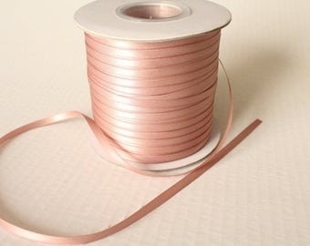 5mm Skinny Antique Mauve Double Face Satin Ribbon 3/16 in.