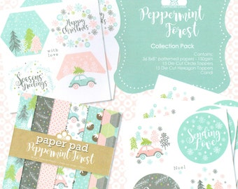 Peppermint Forest Craftwork Cards Collection - Birthday Sale!