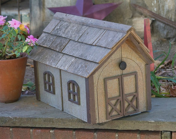 Large Wooden House Mailbox Large Post Mount Mail Box Wooden