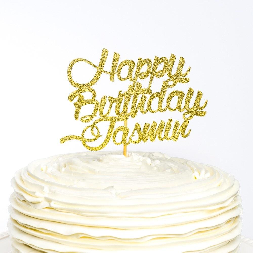 Happy Birthday Cake Topper Cardstock