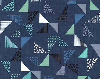 Sassy Cats by Michael Miller - Just Right Navy - Cotton Woven Fabric