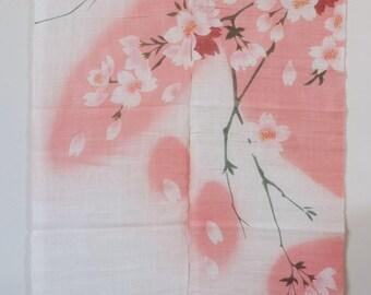 """traditional linen noren, door way curtain. Raining Sakura (WE11-21) 35""""W x 59""""L"""