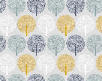 Tree Print Cotton Quilting and Patchwork Fabric - Fat Quarter